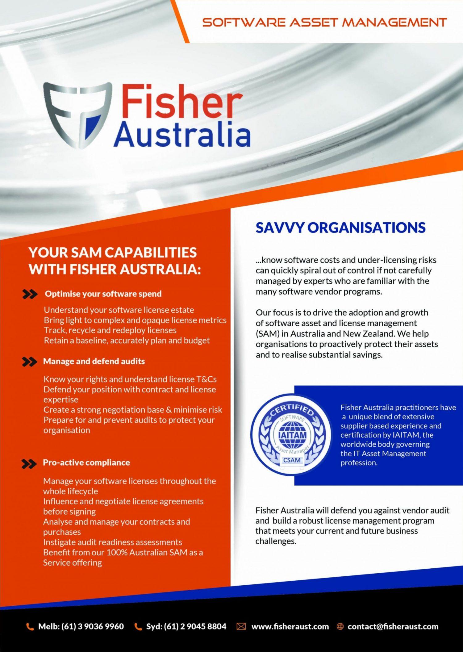 About Fisher Australia | Software Asset Management